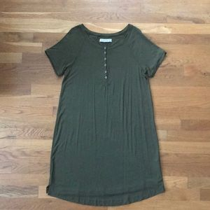 Abercrombie & Fitch Olive Green T-Shirt Dress